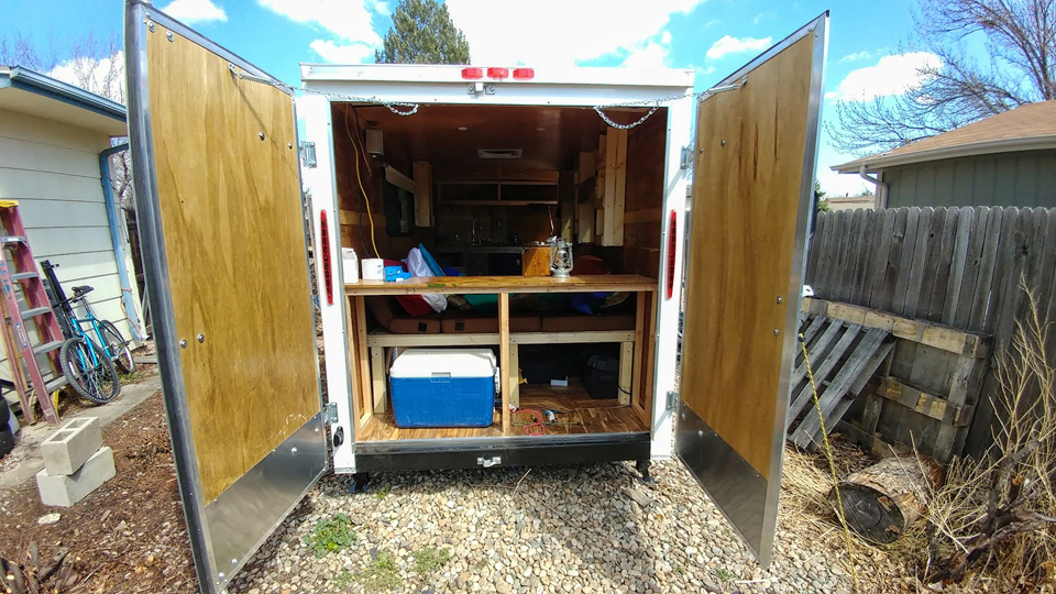 6×14 Cargo Trailer Camper Budget Conversion