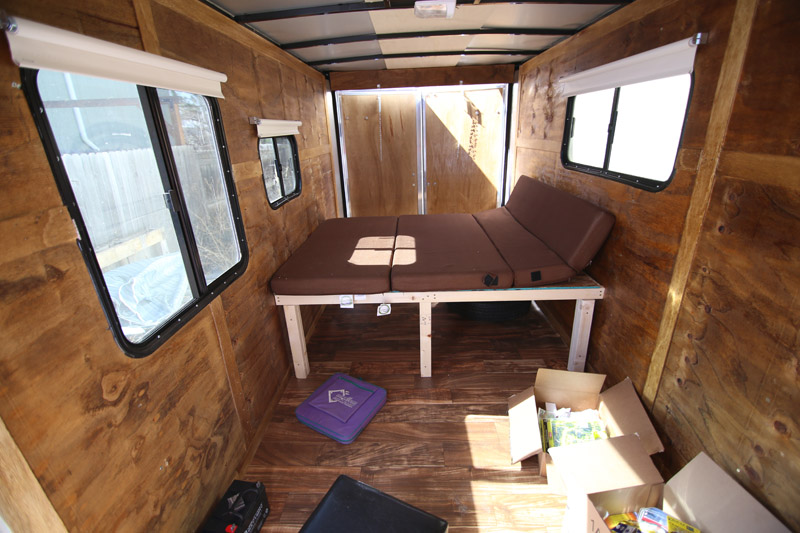 Cargo Trailer Camper Conversion Bed And Flooring
