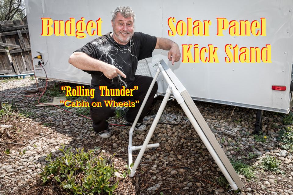 Diy Portable Solar Panel Kick Stand Striking Photography