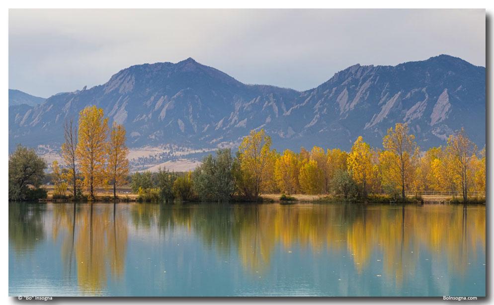 Boulder Colorado Autumn Glow Art Print