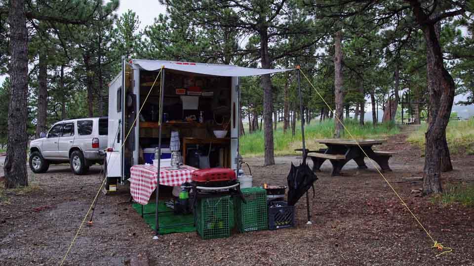 Colorado Camping at Eagle Campground with Cargo Trailer Camper
